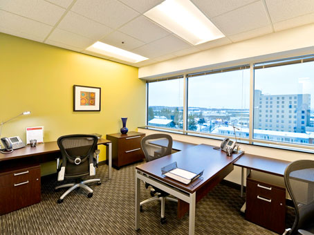 wide window full glass executive office view
