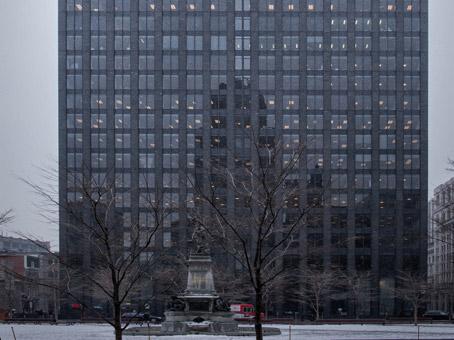 dark full building view