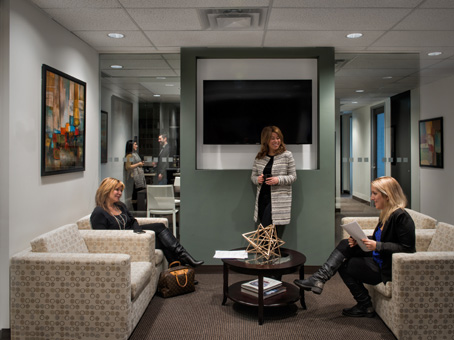 white sofa chair in a lobby