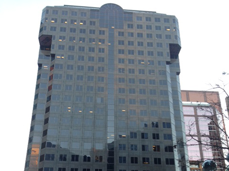 dark full glass building view
