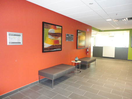 orange wall with beautiful paiting