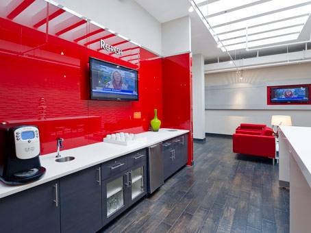 a lovely red painted wall