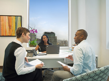 discussion on a amazing full white and clear background office