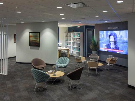 chairs with big flatscreen TV
