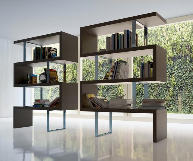 decorative bookshelf in office