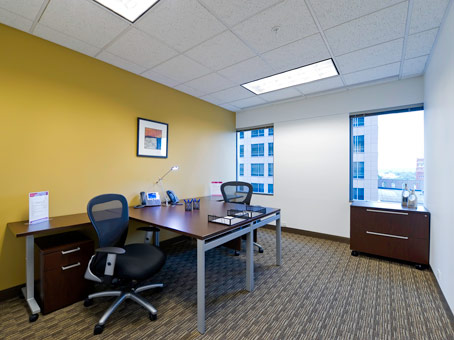 office desk with wide window view