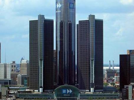 three buildings view