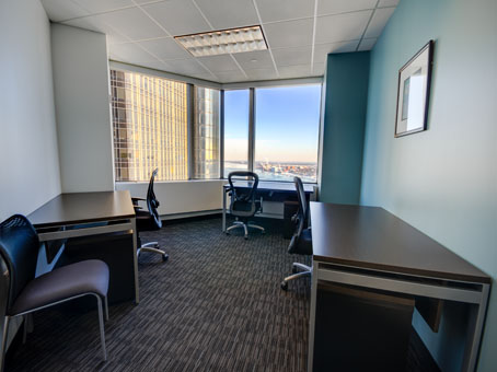 desks with chairs window view