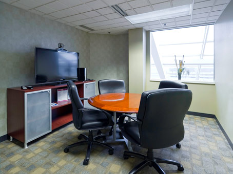 chairs with LED flatscreen TV