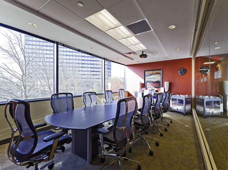 meeting room with a long table view