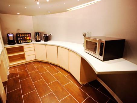 a pantry view with a tiles flooring