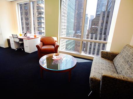 a wide window office
