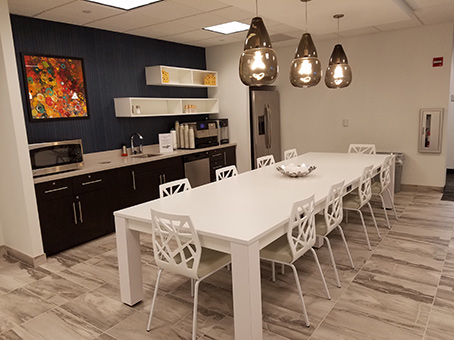white long table & white chairs