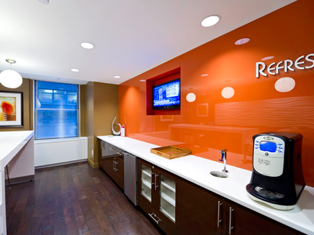 orange wall pantry