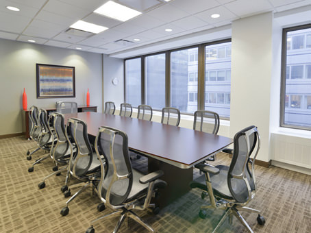 meeting room with wide window glass view