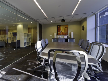 full glass wall conference room