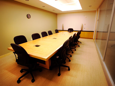 long conference table view