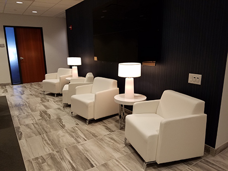 nice looking white leather couch