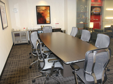 a nice long table with chairs