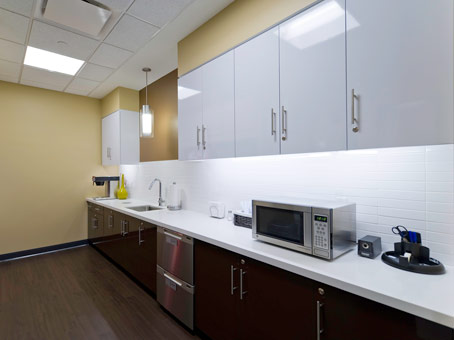 microwave with cabinets