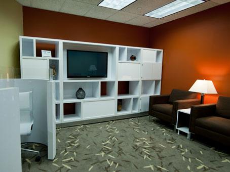 cabinets with LED flatscreen Tv