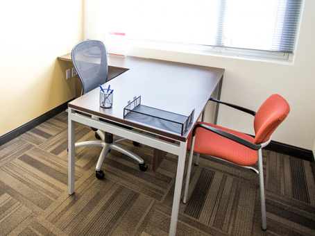 single person office with guest chair