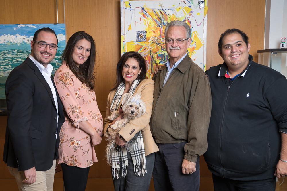 The Hausmann Family  (left to right): Erik Hausmann, Dacia Hausmann, Renee Hausmann, Gene Hausmann, Rex Hausmann