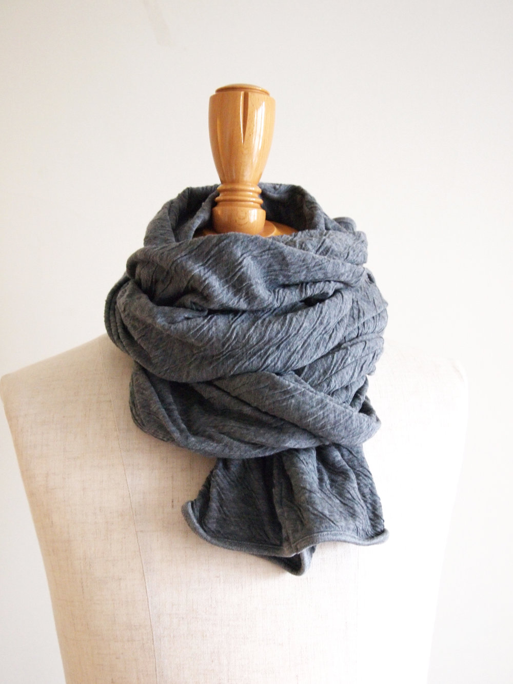#182794 Scarf, shown in HT Charcoal