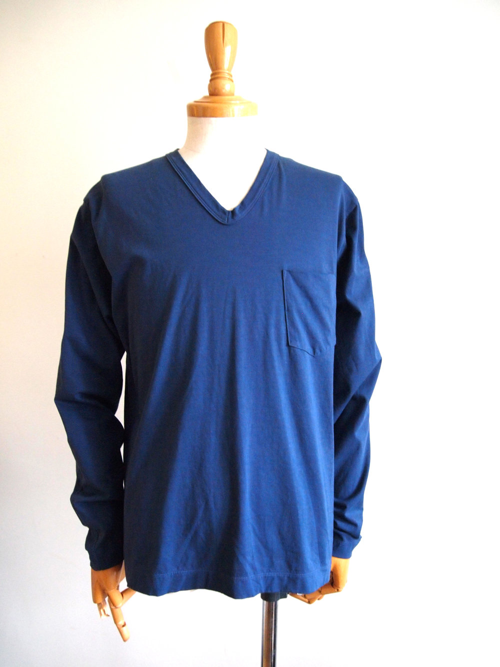 #182827 LS V-neck, shown in NAVY