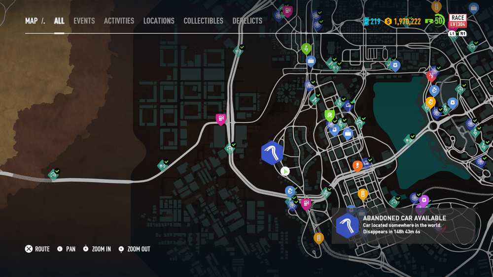 need for speed payback new abandoned car location