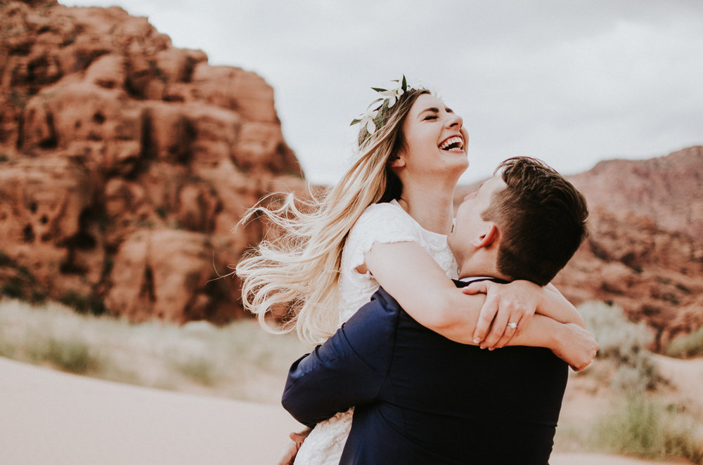 Snow Canyon Wedding | Utah Elopement and Wedding Photographer | Simply Amor Photography