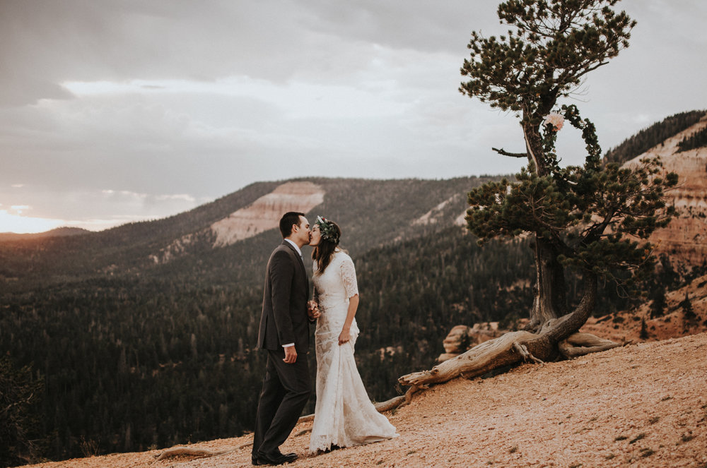 southern utah bryce canyon adventurous elopement with mountain view landscape simply amor photography