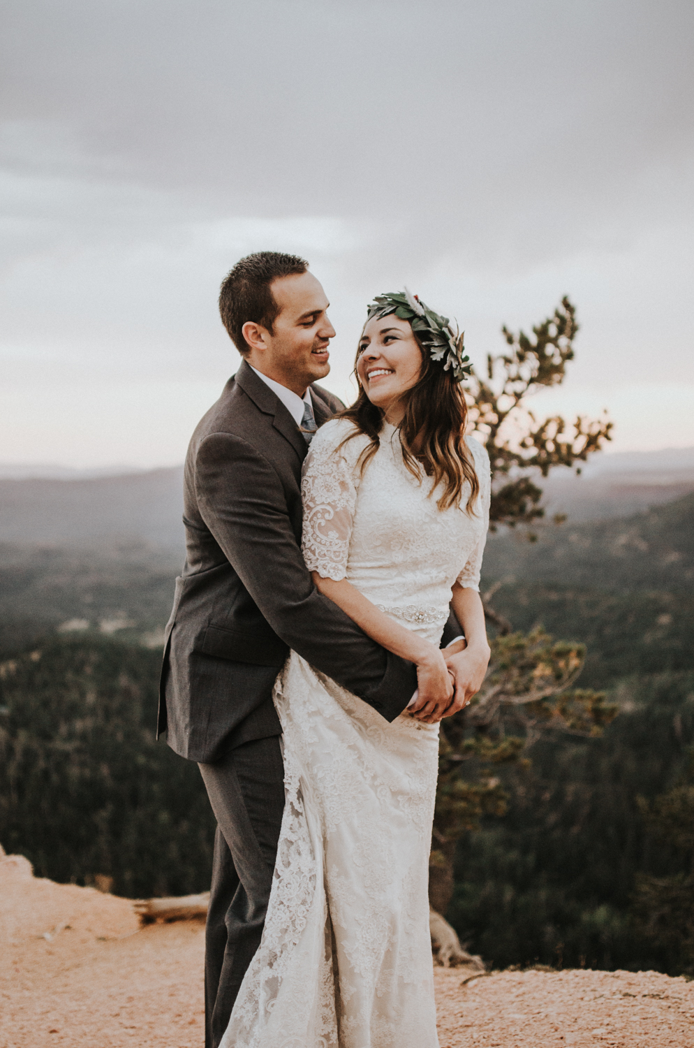 southern utah bryce canyon adventurous elopement with mountain view simply amor photography