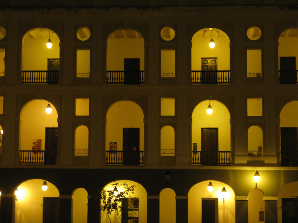 Portugese doors at night