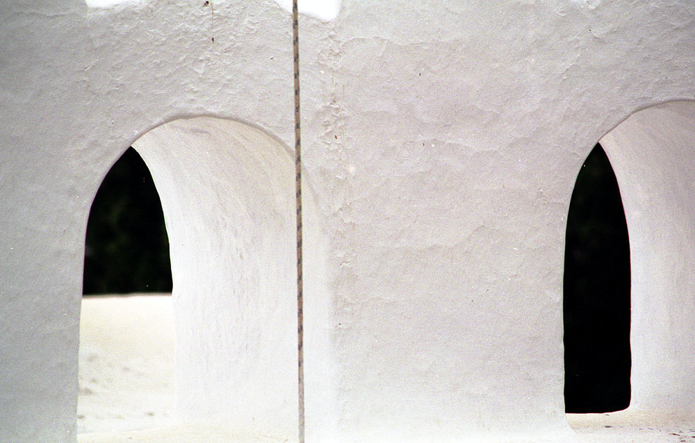 Church windows, Greece