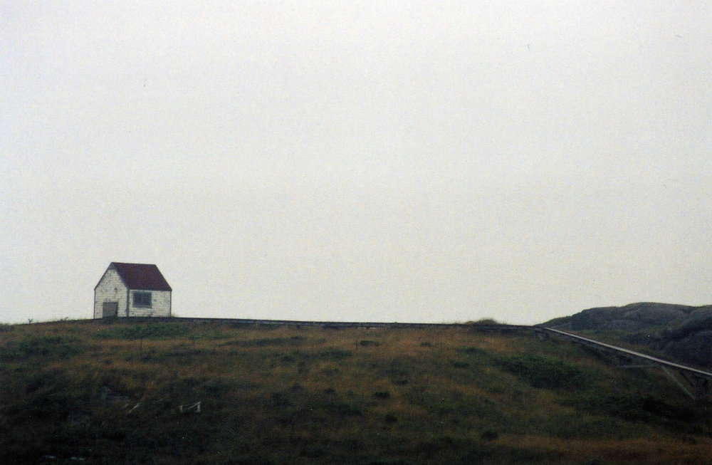 Maine hut from a distance