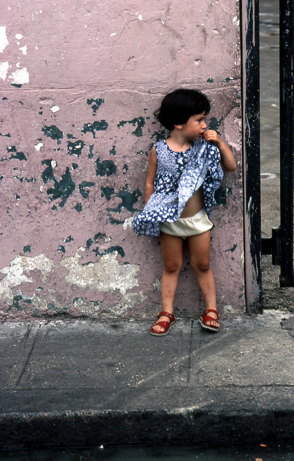 Cuban girl on street