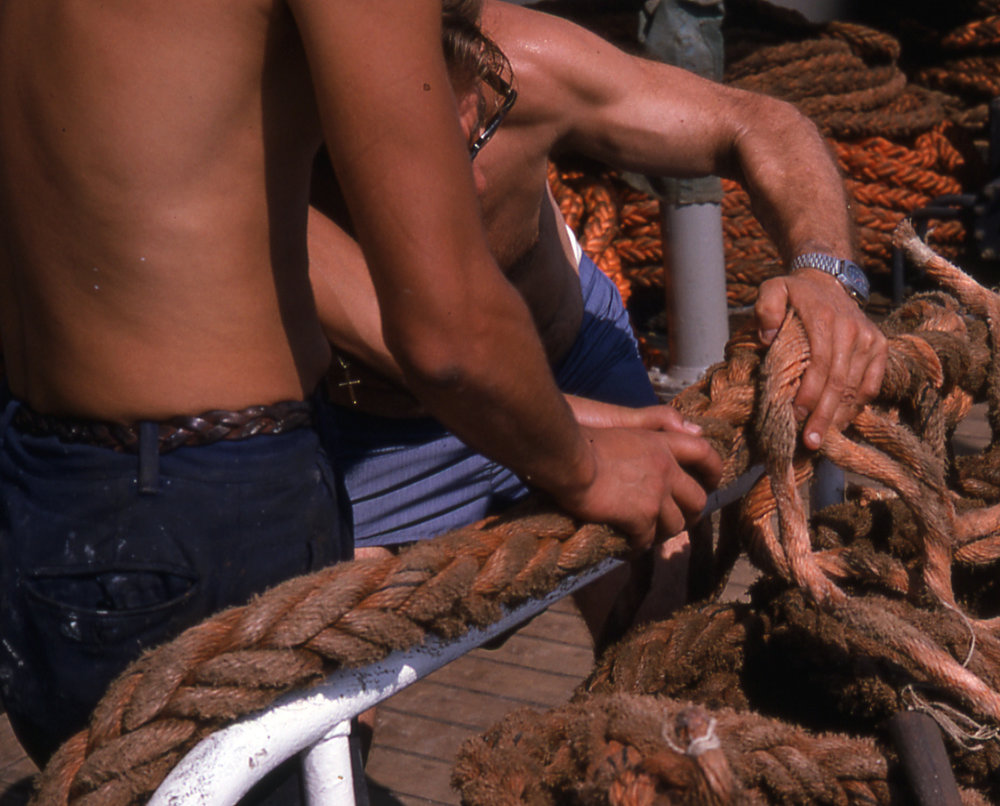 Men working rope