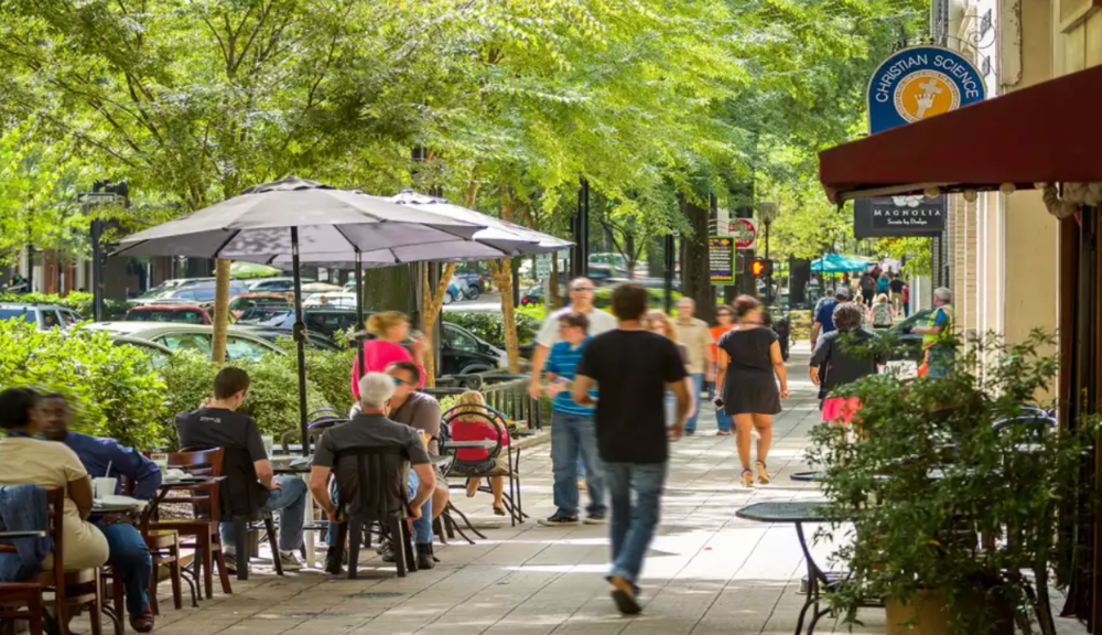 Greenville, South Carolina is a peer city that we are modeling from for Elkhart.  The population has grown to be 90,000, from just 50,000 in 1990. Their streets and parks are renowned attractions as a smaller USA city.