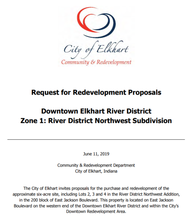 River District Zone 1 RFP Released — Elkhart River District