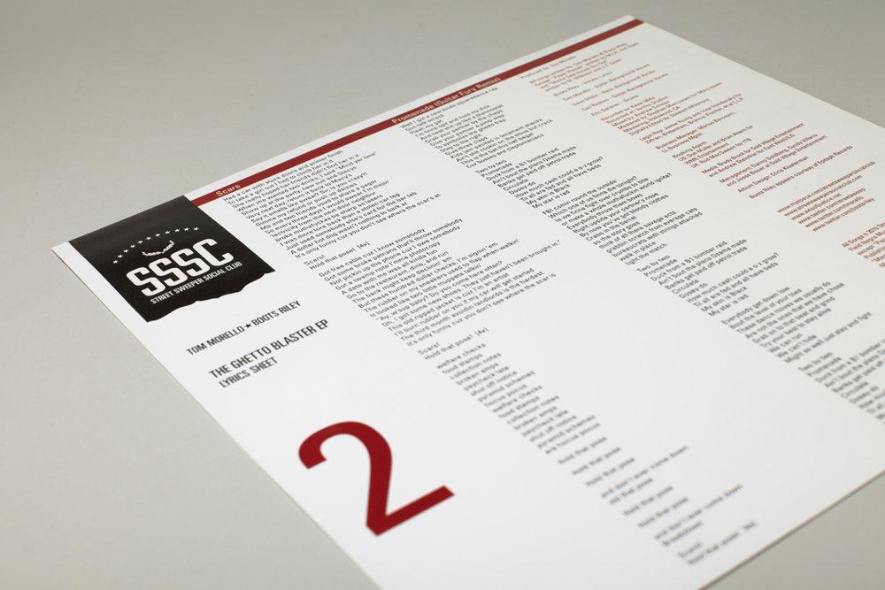 "10"" Lyrics Sheet"