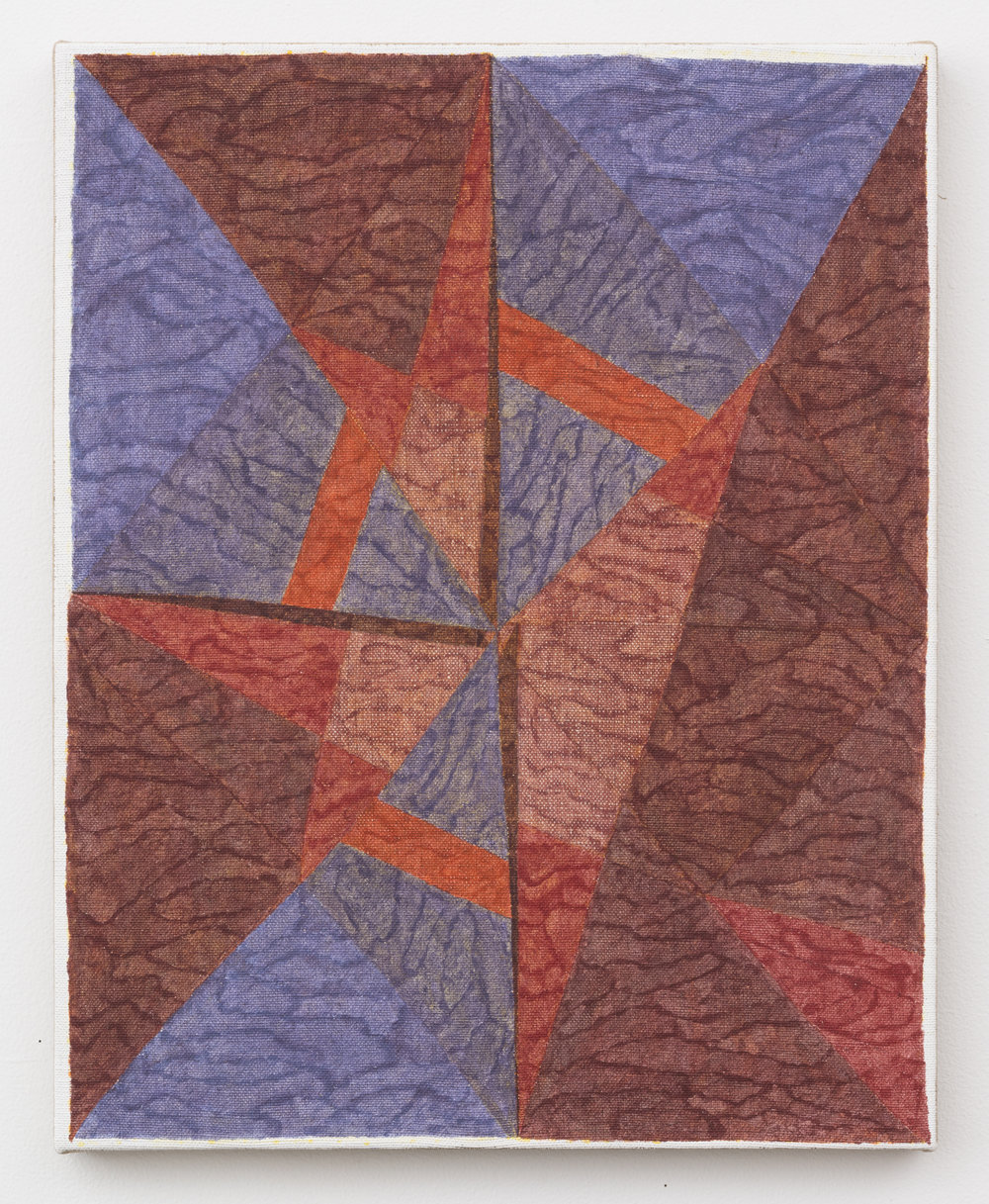 Cardinal Silica and Pigment on Linen 20in x 16in 2017