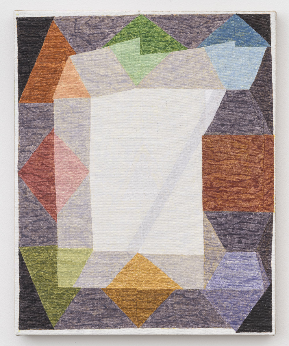 Crudite Silica and Pigment on Linen 20in x 16in 2017