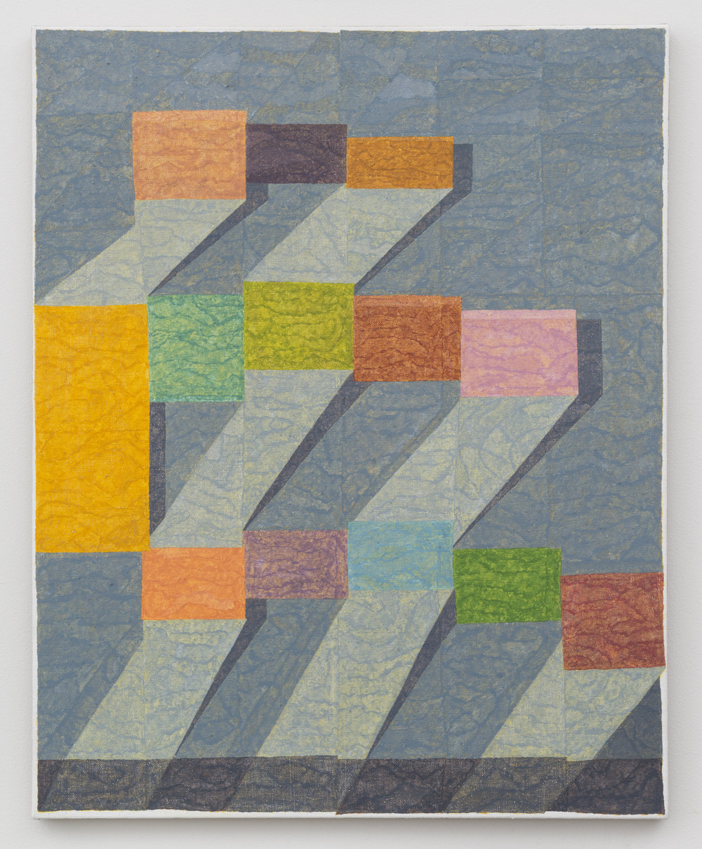 Bricklayer's Union  Silica and Pigment on Linen 30in x 24in 2017