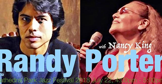 Don't miss Randy Porter and Nancy King @jazzsocietyoforegon2018 Cathedral Park Jazz Festival July 22 4:00pm #jazz #cathedralparkjazzfestival #cathedralpark #pnw #oregon