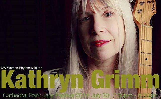 July 20, 7:30 pm Don't miss Kathryn Grimm and the NW Women Rhythm & Blues #blues #cathedralparkjazzfestival #cathedralpark #livemusicisbest #jazzfestival #randbmusic #nwwomenrhythmandblues
