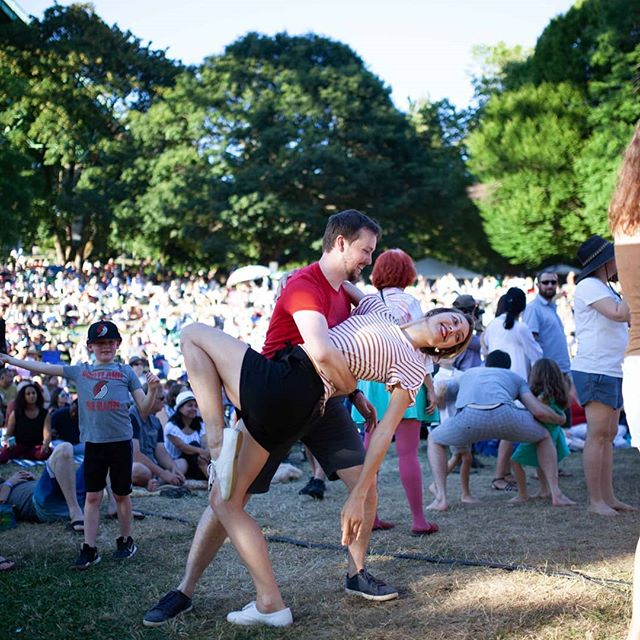 A good time was had by all. #jazz #dancing #CPJF #cathedralpark #jazzfestival #cathedralparkjazzfestival #youngandold (Photo Credit: Kevin Salazar)