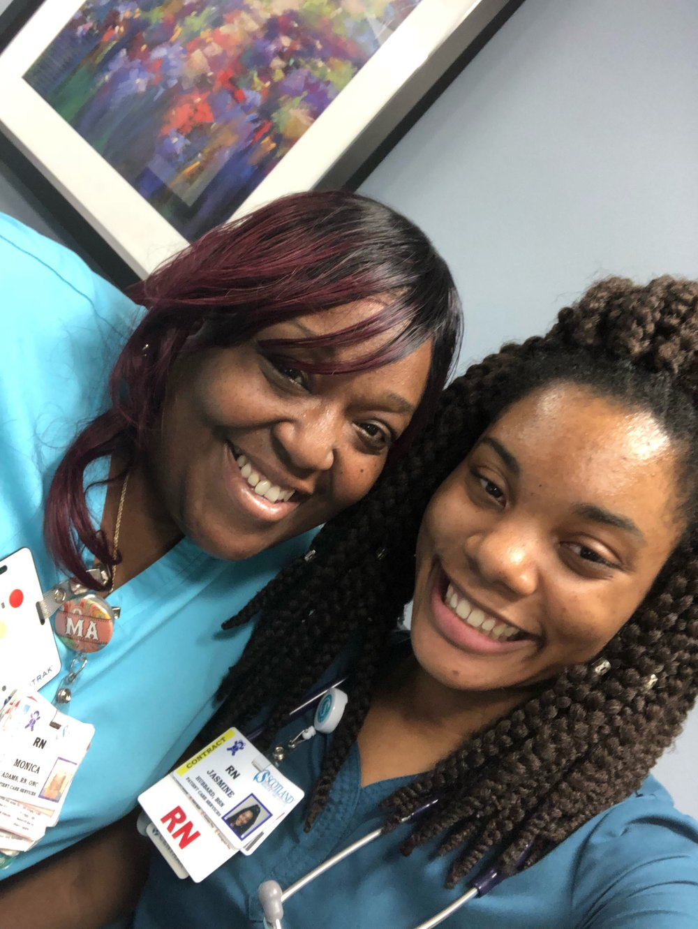 My preceptor Monica! The first nurse that I met here. She is an amazing nurse! :)