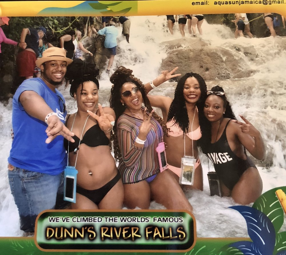 In Ocho Rios, Jamaica where we climbed Dunn's River Falls!
