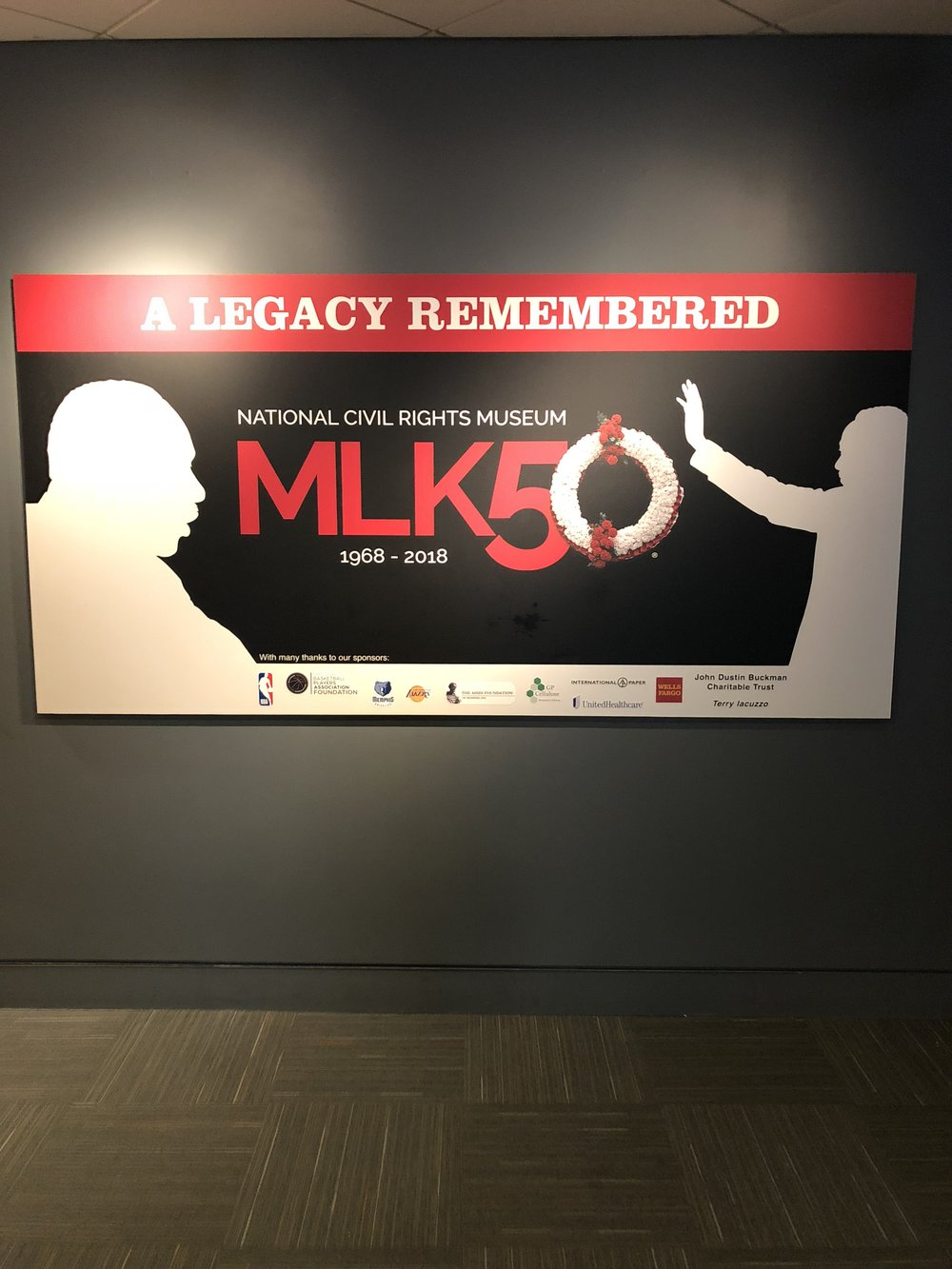 The unveiling of the new exhibit to honor Dr. King 50 years later from his death